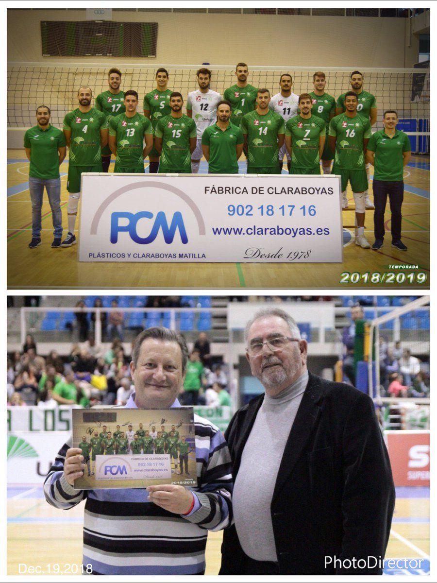 Orgullosos de recibir el premio como Claraboyas Matilla por ser patrocinador del Club Unicaja Voley Almería