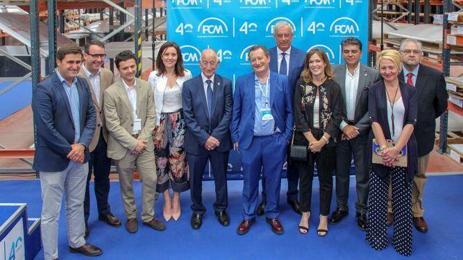Autoridades políticas de la provincia de Almería durante el 40 aniversario de PCM Plásticos y Claraboyas Matilla