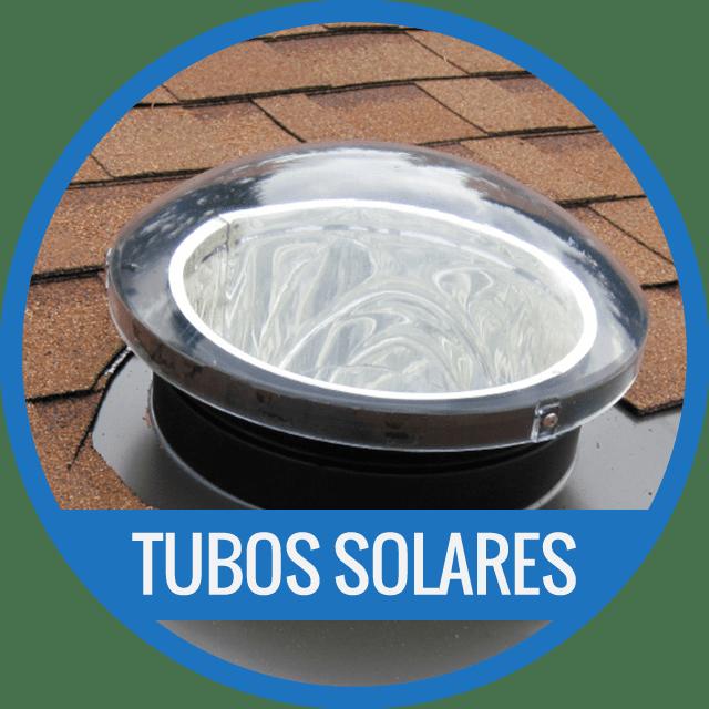 Lucerna Tubo Solar Cubierta Inclinada tipo Solatube