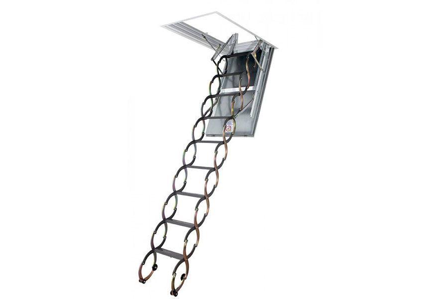 Escalera plegable ignífuga tipo tijera Plásticos y Claraboyas Matilla PCM