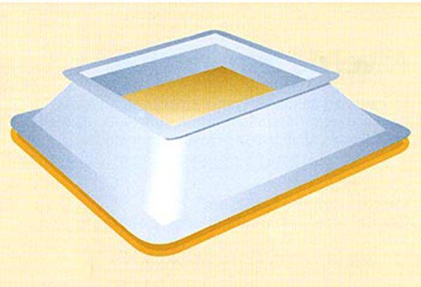 Zócalo poliéster reforzado con fibra de vidrio y espuma de poliuretano para claraboya Plásticos y Claraboyas Matilla