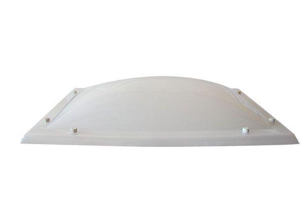 Cúpula Blanco Hielo Monovalva - Plásticos y Claraboyas Matilla