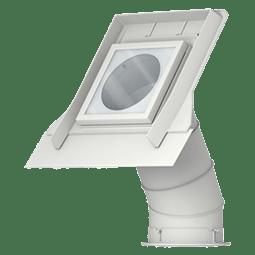 Lucerna para tejado inclinado con falso techo. Tubo solar rígido para conducir luz natural