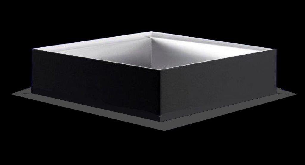 Zócalo acero galvanizado con 1.5mm. de espesor y 300mm. de altura