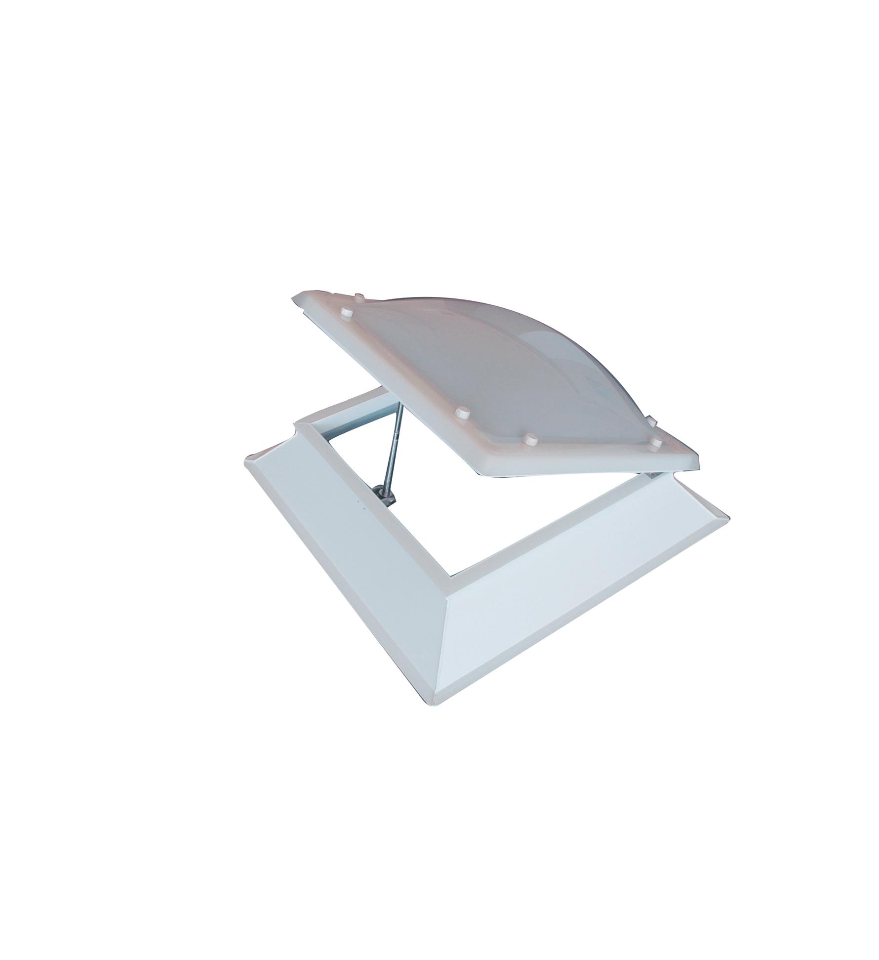 Claraboya de apertura manual mediante manivela y husillo