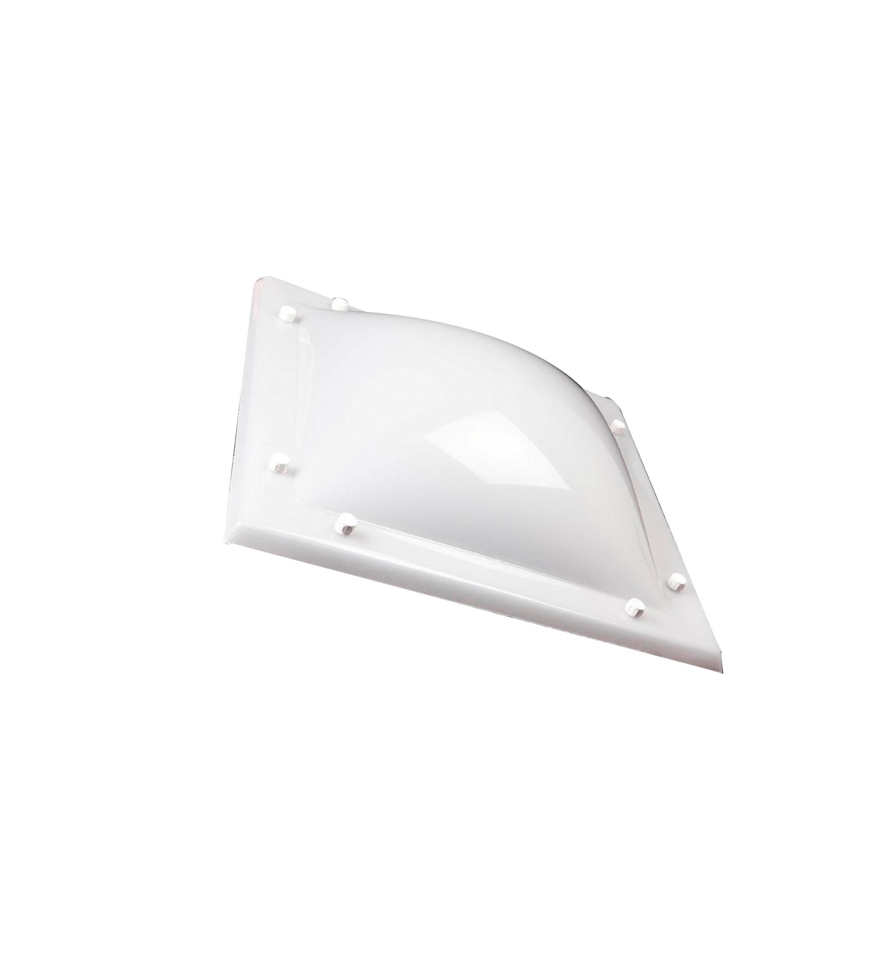 Cúpula parabólica de metacrilato de colada, color blanco hielo