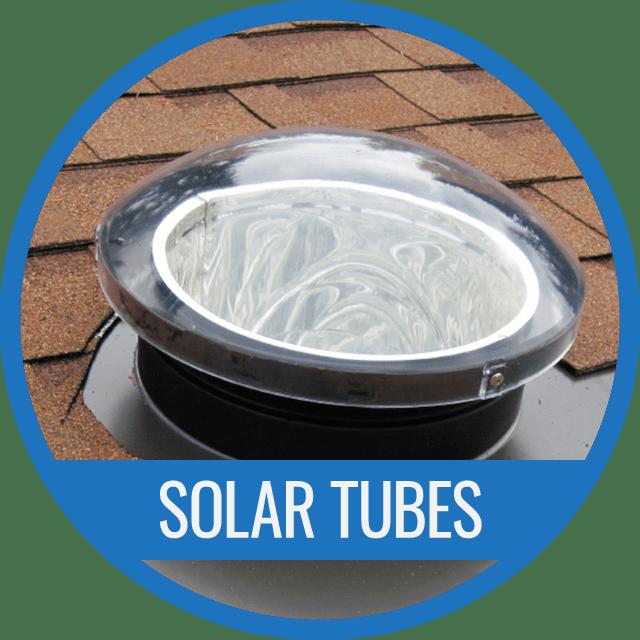Solar tube for gable roof
