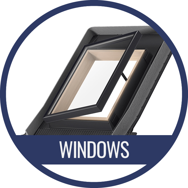 Roof window for gable roof
